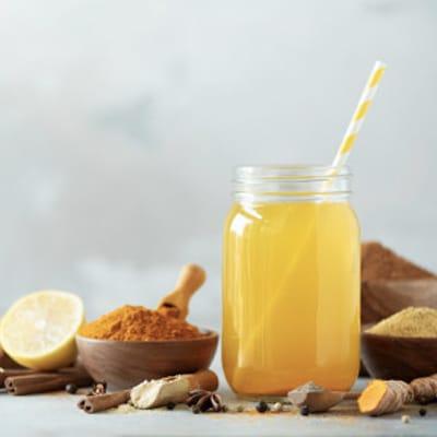 ginger, lemon and turmeric tea