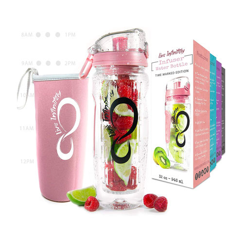 infusion water bottle by live infinitely