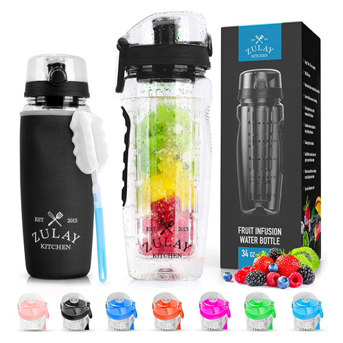 infusion water bottle by zulay